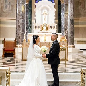 Chic Cathedral Wedding