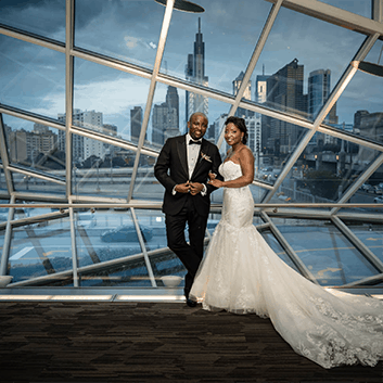 Philly Skyline View Wedding