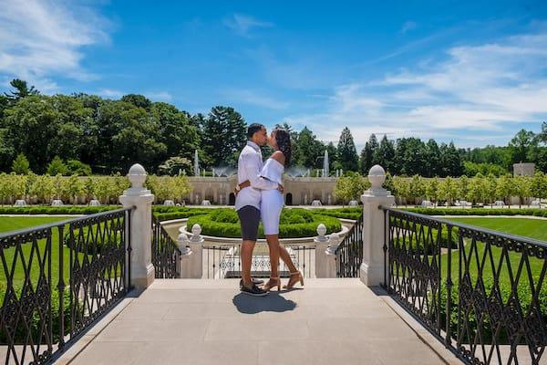 Engagement Shoots- couple at Longwood Gardens - Elegant Events - Philadelphia wedding planner