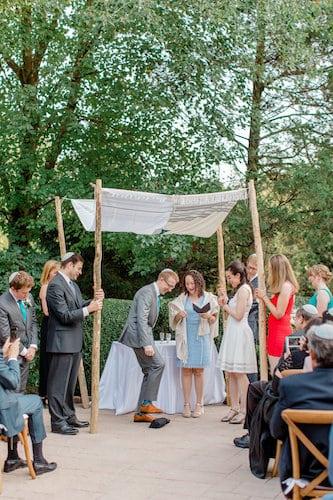 New Jersey Wedding - New Jersey home wedding - New Jersey tented wedding - New Jersey Jewish wedding - outdoor wedding ceremony - Jewish wedding ceremony. - groom smashing glass