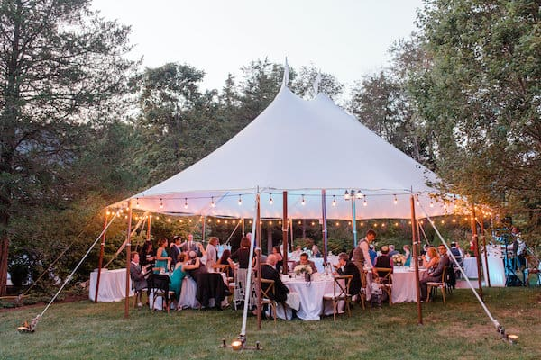 New Jersey Wedding - New Jersey home wedding - New Jersey tented wedding - New Jersey Jewish wedding - sailcloth tent - tented wedding reception