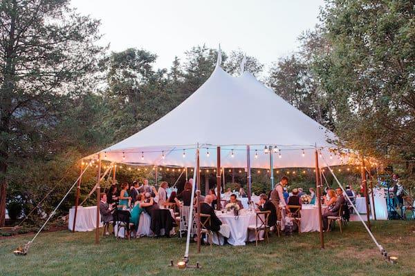 New Jersey Wedding - New Jersey home wedding - New Jersey tented wedding - New Jersey Jewish wedding - sailcloth tent - tented wedding reception