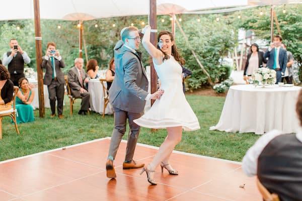 New Jersey Wedding - New Jersey home wedding - New Jersey tented wedding - New Jersey Jewish wedding - First Dance - bride and groom dancing