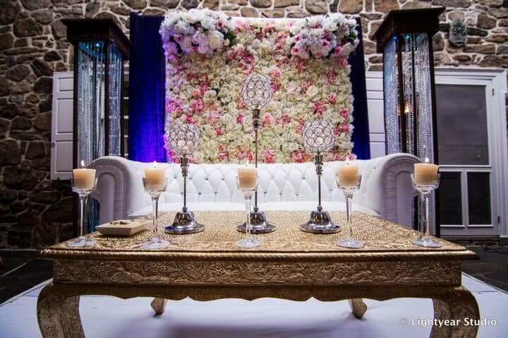 Flower Wall Backdrop Lounge Seating Area1