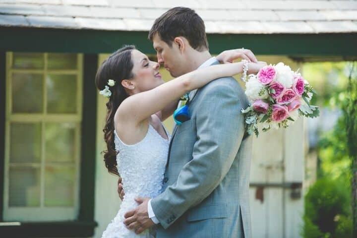 Garden Rose Pink Wedding Bouquet