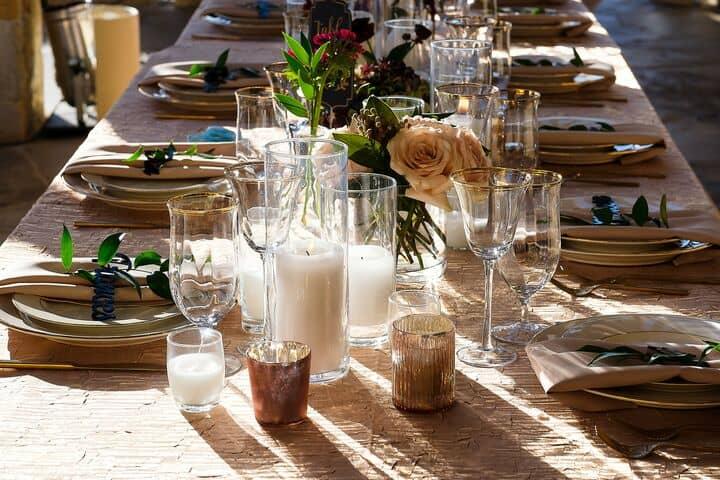 Gold Flatware Wedding Table Design1