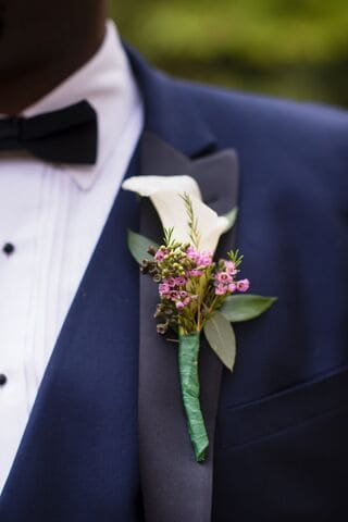 Philly Groom Boutonniere Calla Lily
