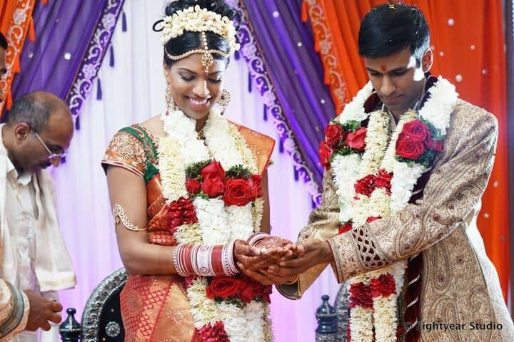 South Asian Indian Wedding Garland Mandap