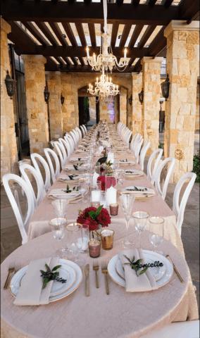 Wedding Tablescape Long Candle Design