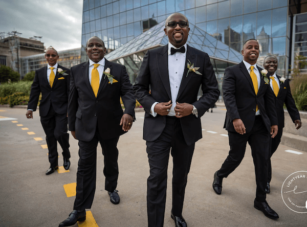 Cira Centre - Groom - Groom with groomsmen