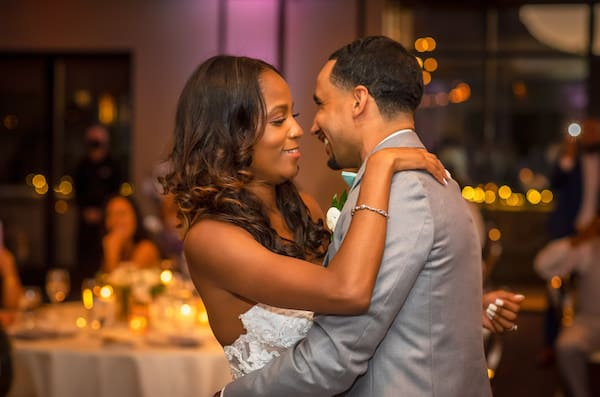 bride and groom's first dance at the Arizona destination wedding