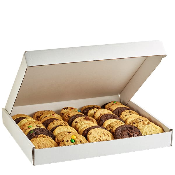 a box of assorted cookies from the iconic Philly Insomnia Cookies