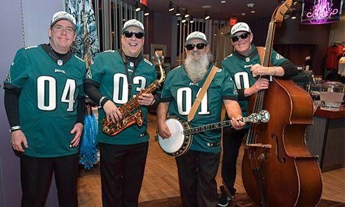 the iconic PHILADELPHIA EAGLES pep band