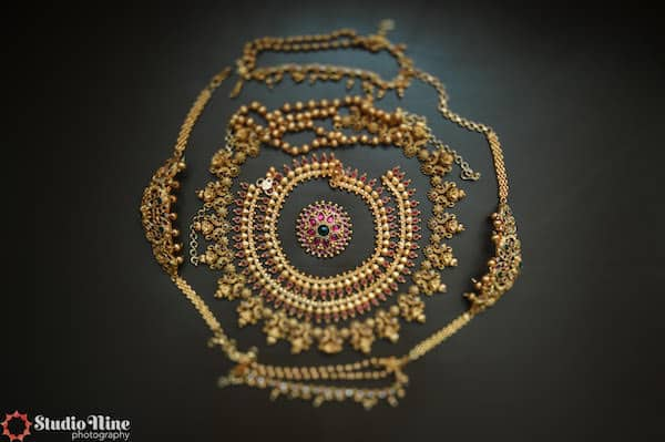 a collection of beautiful jewelry for a South Asian bride