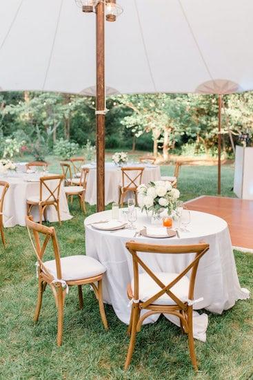 Intimate socially distant tented Philadelphia wedding