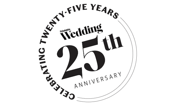 Philadelphia wedding magazine's 25th anniversary banner