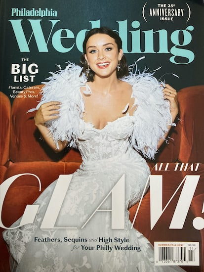 Philadelphia Wedding magazine 25th Anniversary cover