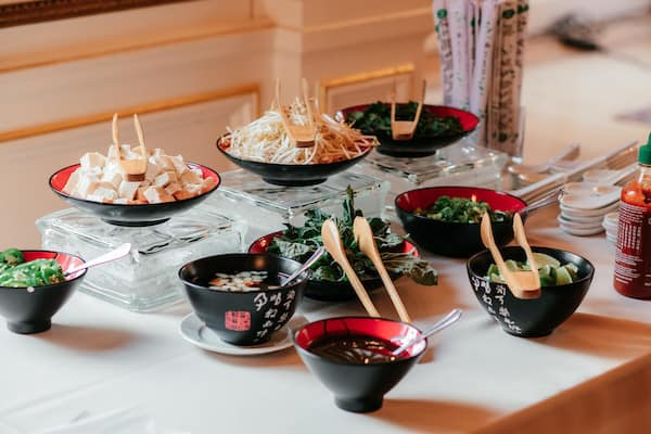 Noodle House Bar by Feastivities one of three Cairnwood Estate Preferred Caterers